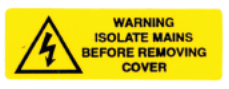 Isolate mains label